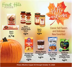 Forest Hills Food catalogue ( More than a month )