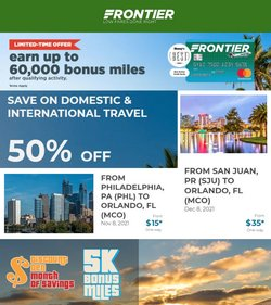 Travel & Leisure deals in the Frontier catalog ( Expires today)