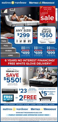 Mattress deals in the Mattress Warehouse weekly ad in Massillon OH