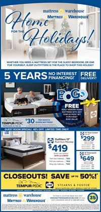 Mattress deals in the Mattress Warehouse weekly ad in Lorain OH