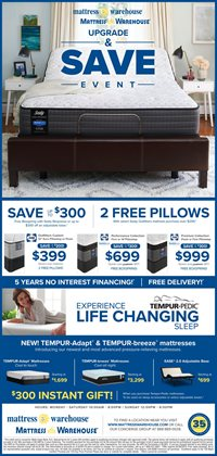 Mattress Warehouse deals in the Akron OH weekly ad