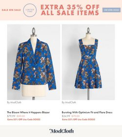 ModCloth deals in the ModCloth catalog ( Expires today)