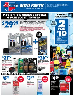 Oil change deals in the Carquest weekly ad in Van Nuys CA