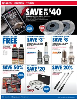Brakes deals in the Carquest weekly ad in New York