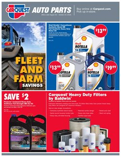 Automotive deals in the Carquest weekly ad in Burbank CA
