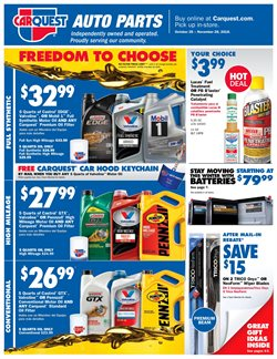 Oil change deals in the Carquest weekly ad in New York