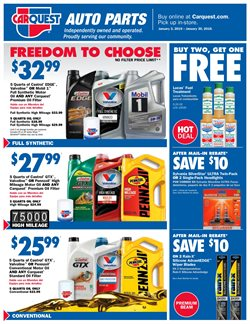 Oil change deals in the Carquest weekly ad in Muskegon MI