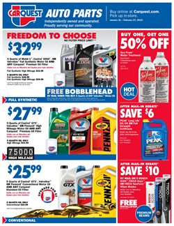 Oil change deals in the Carquest weekly ad in Phoenix AZ