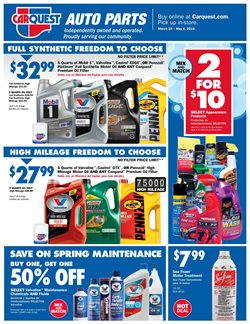 Carquest deals in the Tucson AZ weekly ad