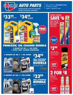 Car care deals in Carquest