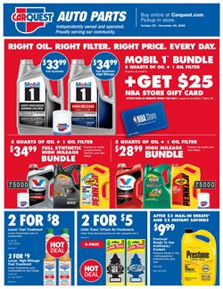 Water deals in Carquest