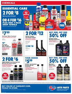 Cleaners deals in Carquest