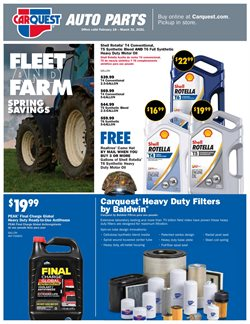Automotive offers in the Carquest catalogue in Berwyn IL ( More than a month )