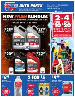 Automotive offers in the Carquest catalogue ( 9 days left )