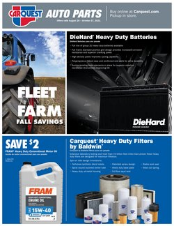 Automotive deals in the Carquest catalog ( More than a month)