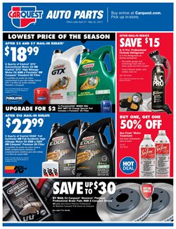 Automotive deals in the Carquest weekly ad in New York