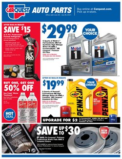 Automotive deals in the Carquest weekly ad in Los Angeles CA