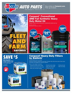 Automotive deals in the Carquest weekly ad in Johnstown PA