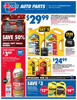 Carquest deals in the Houston TX weekly ad