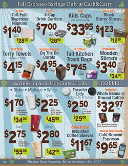 Baby stroller deals in the Cash-and-Carry weekly ad in Kent WA