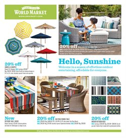 Home & Furniture deals in the Cost Plus World Market weekly ad in Houston TX