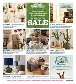 Home & Furniture deals in the Cost Plus World Market weekly ad in Kent WA