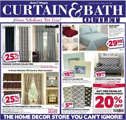 Curtain and Bath Outlet deals in the Warwick RI weekly ad