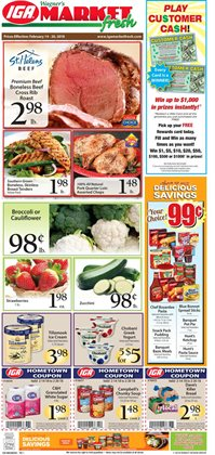 IGA deals in the Bangor ME weekly ad