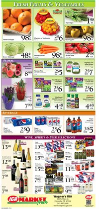 Refreshments deals in the IGA weekly ad in New York
