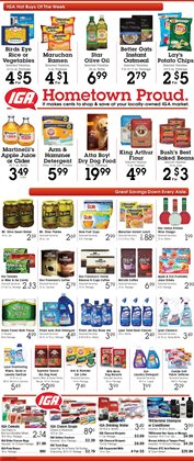 Oil deals in the IGA weekly ad in New York