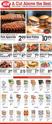 Freezer deals in the IGA weekly ad in Fontana CA