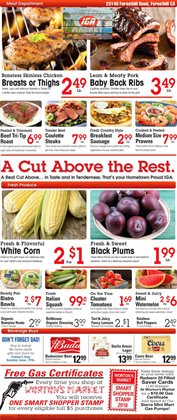 Men's shoes deals in the IGA weekly ad in New York