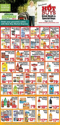 Milk deals in the IGA weekly ad in New York