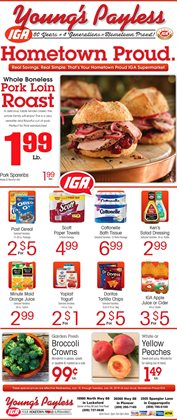 Broccoli deals in the IGA weekly ad in New York
