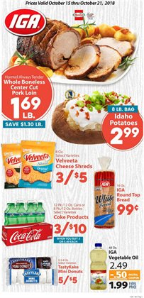 IGA deals in the Jacksonville FL weekly ad
