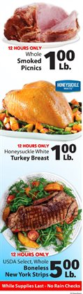 Turkey deals in the IGA weekly ad in New York
