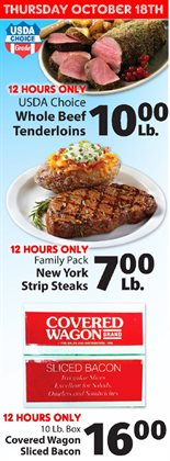 Cow meat deals in the IGA weekly ad in New York