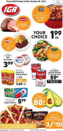 Chicken deals in the IGA weekly ad in Knoxville TN