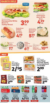 Fitness deals in the IGA weekly ad in New York
