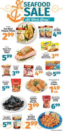 Fish deals in the IGA weekly ad in New York