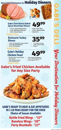 Black Friday deals in the IGA weekly ad in New York