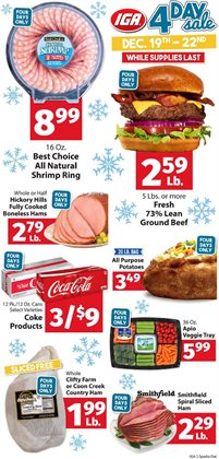 Tray deals in the IGA weekly ad in New York