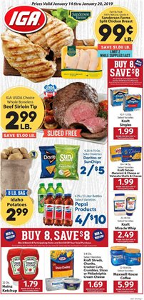 Coffee deals in the IGA weekly ad in New York
