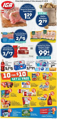 Coca-cola deals in the IGA weekly ad in New York