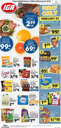 Tissues deals in the IGA weekly ad in New York