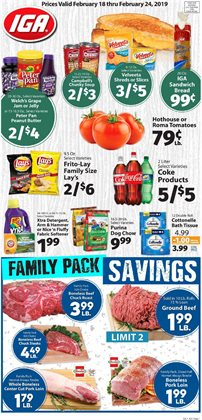 Grocery & Drug deals in the IGA weekly ad in Bellevue WA