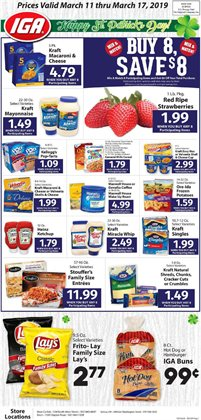 Potatoes deals in the IGA weekly ad in New York