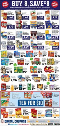 Pizza deals in the IGA weekly ad in New York