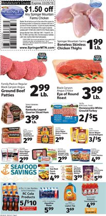 Chicken thighs deals in the IGA weekly ad in New York
