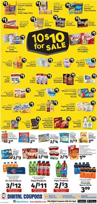 Pepsi deals in the IGA weekly ad in New York